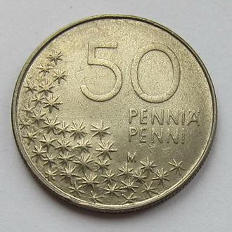 Финляндия 50 пенни 1991 (KM#66) *Белый медведь*