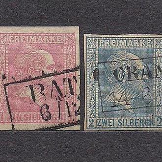 Немецкие земли, Preusen, 1858 г., первые марки