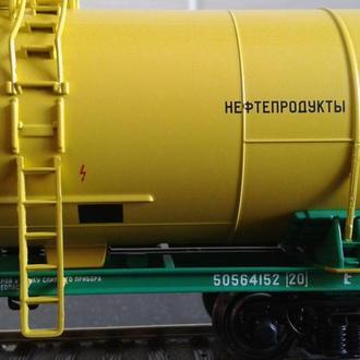 4-х осная цистерна Eurotrain 50564142 Нефтепродукты/ Железная дорога Piko,Roco H0 (1:87)