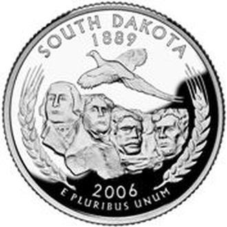 25 центов США Южная Дакота 2006