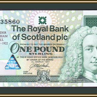 Шотландия 1 фунт 1997 P-359 UNC