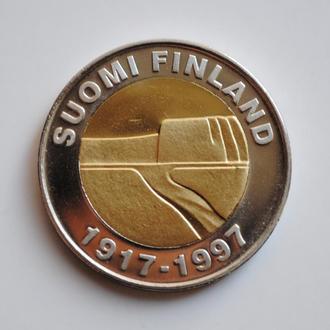 Финляндия 25 марок 1997 г., UNC, '80 лет Независимости'