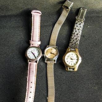 3 пары часов. Timex. Lorus. оригинал
