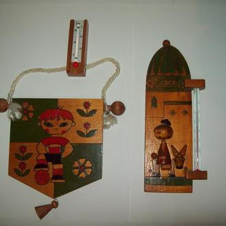 Термометр настенный Футболист + бонус про-во СССР дерево
