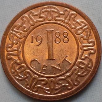 Суринам 1 цент 1988 состояние