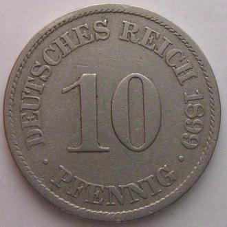 Германия 10 пфеннигов, 1899 год (A)