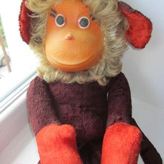 Плюшевая обезьяна 53см Пенза игрушка кукла СССР