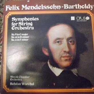 F. Mendelssohn.(Ф.Мендельсон) 2 LP. Symph. for String Orchestra № 9,10,11 OPUS Chechoslovakia