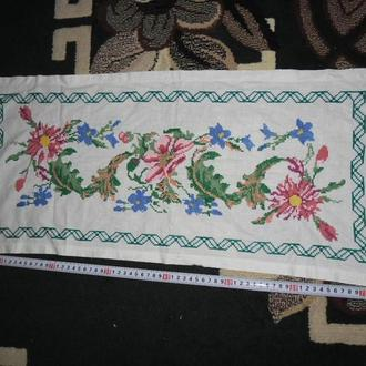 вишита серветка рушник квiти