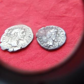 Монета Денарий А Пий---М Аврелий Срибло