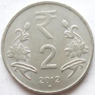 (1) Индия 2 рупии 2012 -Мумбаи-
