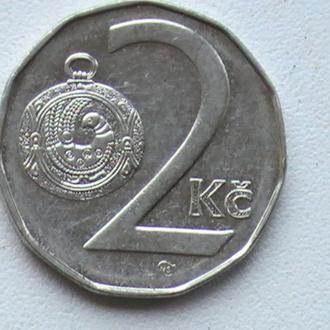 2 Крони 1996 р Чехія 2 Кроны 1996 г Чехия