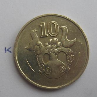 КИПР, 10 центов 1985 года.