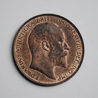 Великобритания 1 пенни 1902 г., XF-UNC, 'Король Эдуард VII (1902-1910)'