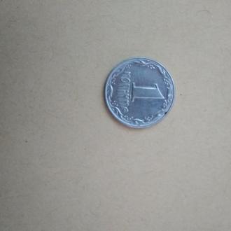 Монета 1 копійка 1992 року