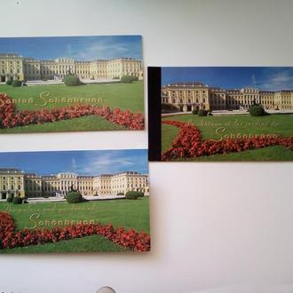ООН. 1998 г.Серия буклетов  Дворец и парк Шенбрун.(3 буклета на 3 языках)