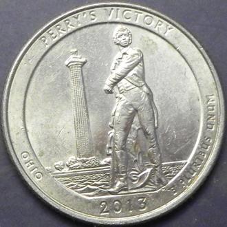 25 центів 2013 D США гора Перемога Перрі