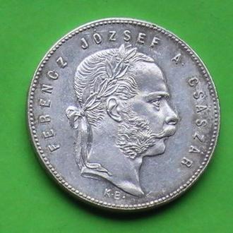 1 Форинт 1869 г КВ Австро-Венгрия Серебро 1 Форінт 1869 р КВ Срібло Австро-Угорщина 1 Гульден 1869 р