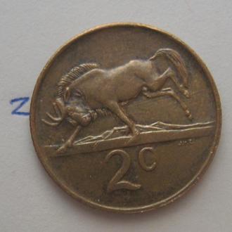 ЮАР, 2 цента 1988 года (АНТИЛОПА).