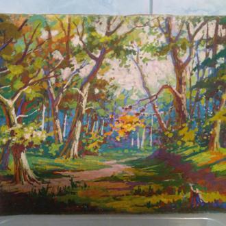 Картина лес, роща