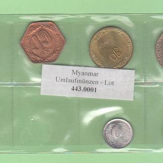 МЬЯНМА / БИРМА набор БІРМА набір 6 монет UNC