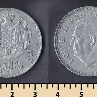 Монако 5 франков 1945