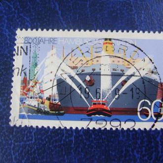 ФРГ 1989 г. Гамбургский порт.
