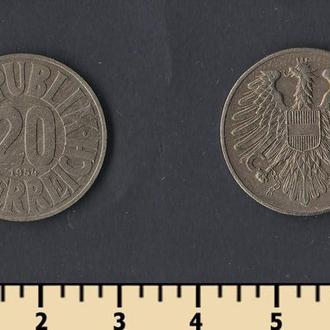 Австрия 20 грошей 1954