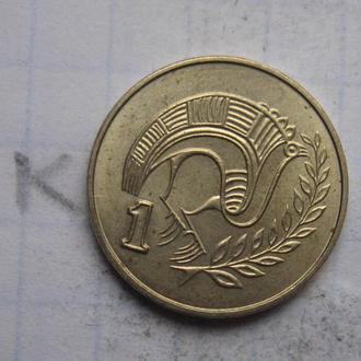 КИПР 1 цент 1985 года.