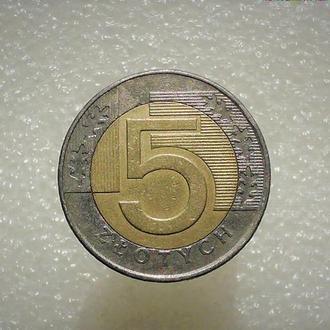 5 злотых Польша, Варшава 1996 год (223)
