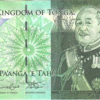 Тонга 1 Pa'anga 2009г. в UNC из пачки