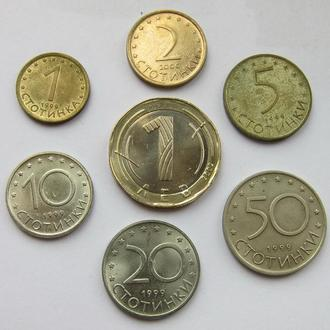 Болгария набор 1, 2, 5, 10, 20, 50 стотинка и 1 лев (1999 - 2002)