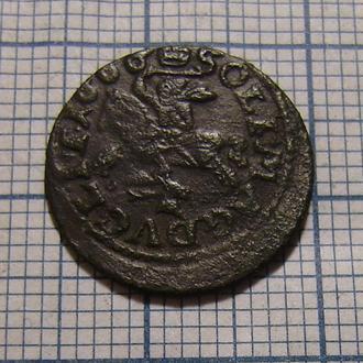 Шеляг, солид, боратинка 1666  Ян Казимир период (1648-1668)