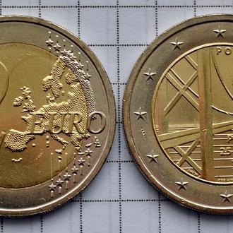 Португалия 2 евро, 2016 Мост имени 25 апреля