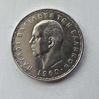 Греция 20 драхм 1960 г серебро