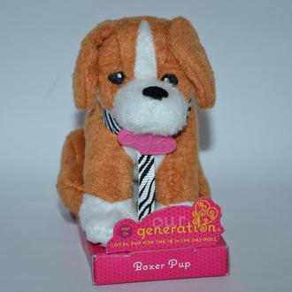 новая коллекционная мягкая игрушка собачка generation boxer pup battat Англия оригинал