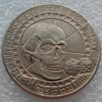 США 5 центов 1937 г. Череп и кости