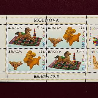 Молдова.  СТАРЫЕ ИГРУШКИ. 2015 г. MNH (**)