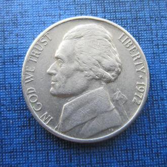монета 5 центов США 1972