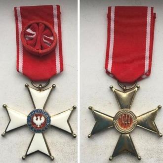Крест офицерский Орден Возрождения Польши. 1944г