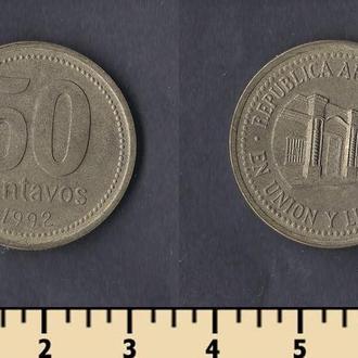 Аргентина 50 сентаво 1992