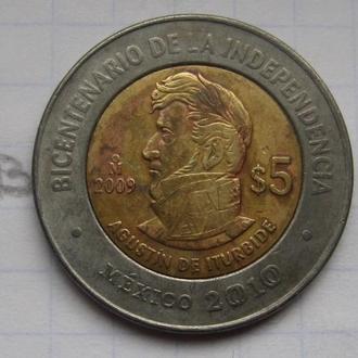 МЕКСИКА, 5 песо 2010 г. (200 лет независимости).