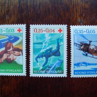 Финляндия.1966г. Красный крест. Первая медицинская помощь. Полная серия. MNH
