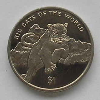 Сьерра-Леоне 1 доллар 2001 пума ягуар кошка