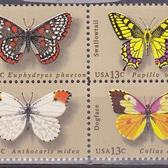 США бабочки MNH