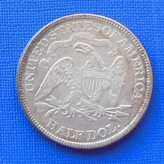 пол доллара США 1884 год