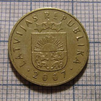 Латвия, 5 сантим 2007