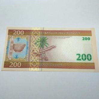 Мавритания, 200 оугуйя, 2006, пресс, unc, оригинал