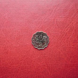 Свазиленд 5 центов 2008 UNC.