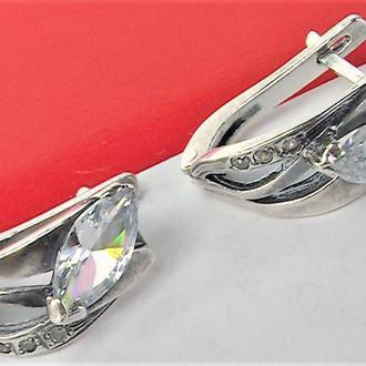 Серьги новые серебро 925 проба 3,86 грамма